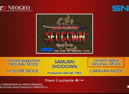 ACA NEOGEO Samurai Shodown: uno sguardo in video al titolo dai Nintendo Switch europei