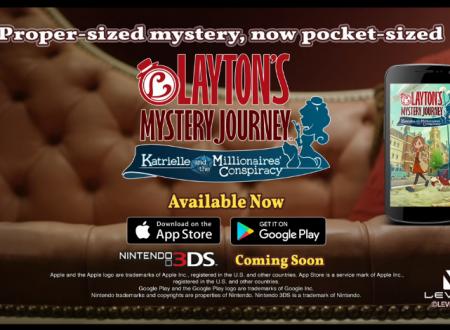 LAYTON'S MYSTERY JOURNEY: Katrielle e il complotto dei milionari, titolo ora disponibile su iOS e Android in Europa