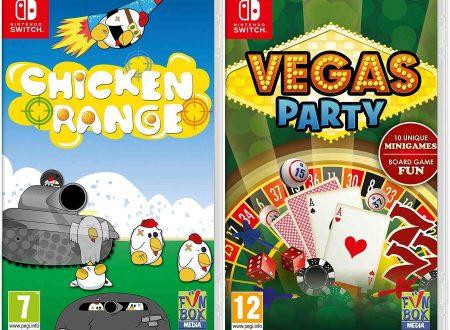 Nintendo Switch: Chicken Range e Vegas Party, due titoli in arrivo retail sulla console
