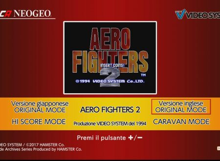 ACA NEOGEO AERO FIGHTERS 2: primo sguardo al titolo da Nintendo Switch europei