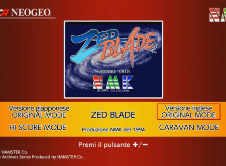 ACA NEOGEO ZED BLADE: uno sguardo in video al titolo dai Nintendo Switch europei