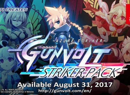 Azure Striker Gunvolt Striker Pack, il titolo il arrivo il 31 agosto sui Nintendo Switch europei