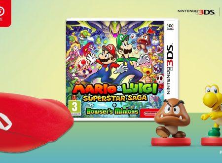 Mario & Luigi: Superstar Saga + Scagnozzi di Bowser ora in preorder con amiibo e cappellino di Mario sul Nintendo UK Store