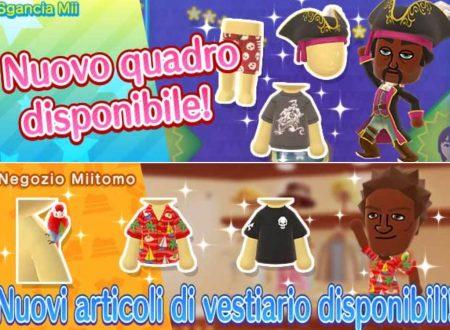 Miitomo: tutti i nuovi indumenti del 11 agosto nel minigioco Sgancia Mii e nel negozio