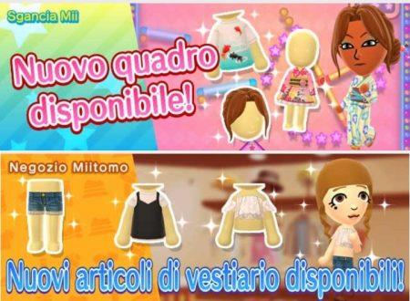 Miitomo: tutti i nuovi indumenti del 4 agosto nel minigioco Sgancia Mii e nel negozio