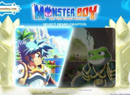Monster Boy and the Cursed Kingdom, pubblicato un video gameplay della demo dal Gamescom 2017