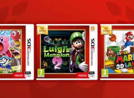 Nintendo Selects: pubblicato il trailer per i tre nuovi titoli 3DS della raccolta