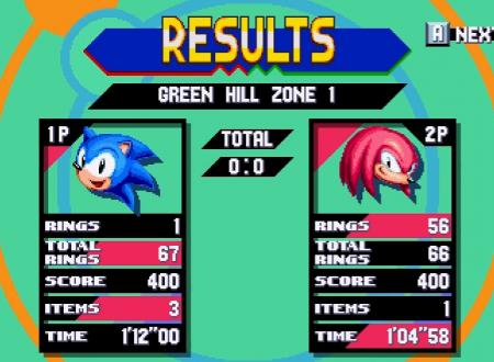 Sonic Mania: annunciata la modalità competitiva, attraverso un nuovo video di SEGA