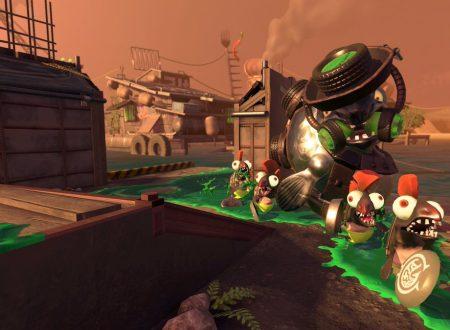 Splatoon 2: lo scenario Barricata Barracuda della modalità Salmon Run, mostrato al Gamescom