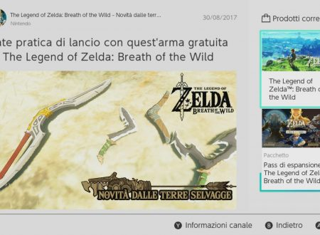 The Legend of Zelda: Breath of the Wild: un boomerang in omaggio dal Canale Notizie di Nintendo Switch
