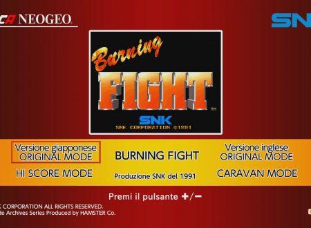 ACA NEO GEO Burning Fight: uno sguardo al titolo dai Nintendo Switch europei