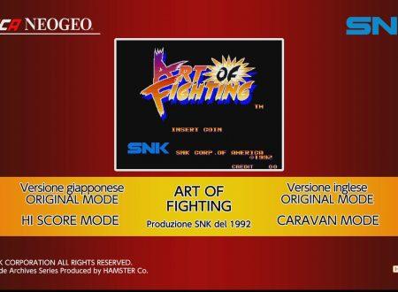 ACA NEOGEO ART OF FIGHTING: uno sguardo in video al titolo dai Nintendo Switch europei