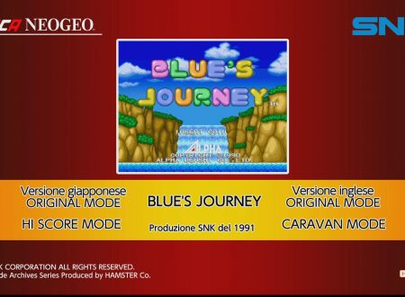 ACA NEOGEO BLUE'S JOURNEY: uno sguardo in video al titolo dai Nintendo Switch europei
