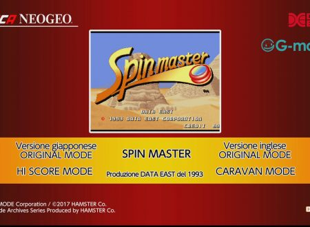 ACA NEOGEO SPIN MASTER: uno sguardo in video al titolo dai Nintendo Switch europei