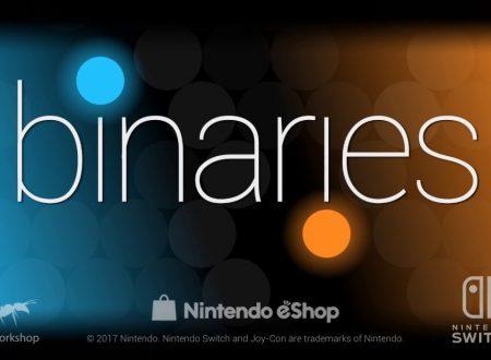 Binaries: pubblicato il trailer di lancio del titolo in arrivo domani sui Nintendo Switch europei