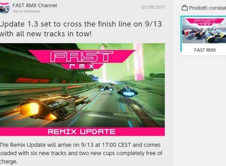 FAST RMX: l'update Remix è in arrivo il 13 settembre sui Nintendo Switch europei