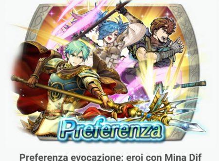 Fire Emblem Heroes: risultati del 2° round della Sfida ai voti, nuova preferenza evocazione: eroi con Mina Dif