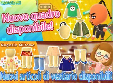 Miitomo: i nuovi indumenti dell'8 settembre nel minigioco Sgancia Mii e nel negozio