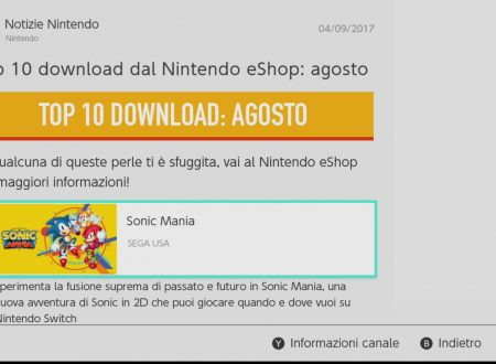 Nintendo eShop: la TOP 10 dei giochi più scaricati nel mese di agosto su Nintendo Switch