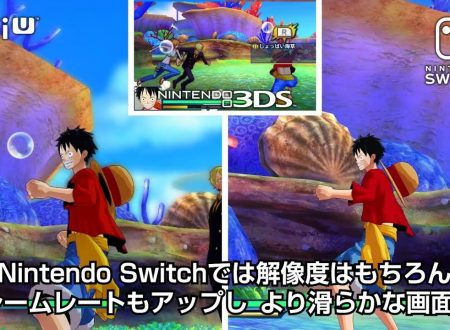 One Piece Unlimited World Red Deluxe Edition: trailer comparativo tra la versione Nintendo Switch, Wii U e 3DS