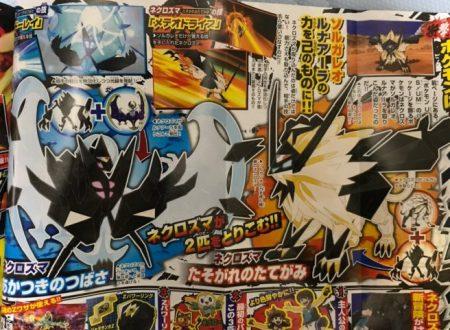 Pokémon Ultrasole e Ultraluna: svelati i nomi delle forme Necrozma di Solgaleo e Lunala