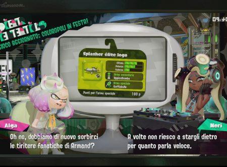 Splatoon 2: primo sguardo in video allo Splasher élite logo e allo Sparabolle, ora disponibili nel titolo