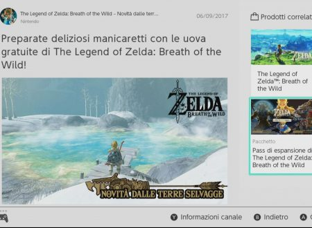 The Legend of Zelda: Breath of the Wild: tre uova per manicaretti, ora dal Canale Notizie di Nintendo Switch