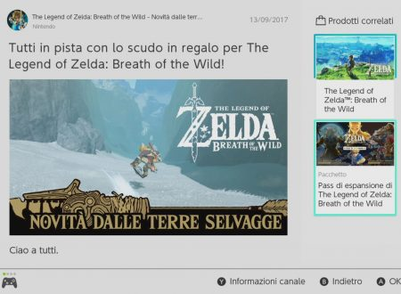 The Legend of Zelda: Breath of the Wild: uno scudo animalesco, ora dal Canale Notizie di Nintendo Switch