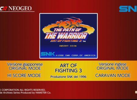 ACA NEOGEO Art of Fighting 3: uno sguardo in video al titolo dai Nintendo Switch europei