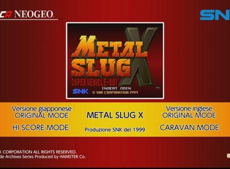 ACA NEOGEO METAL SLUG X: uno sguardo in video al titolo dai Nintendo Switch europei