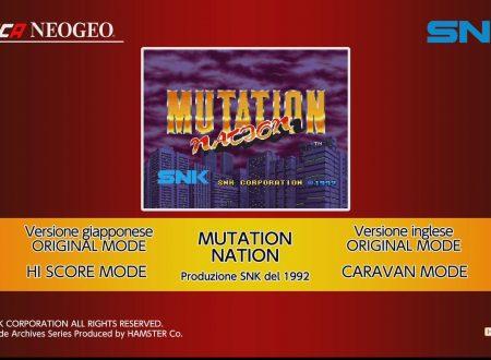 ACA NEOGEO MUTATION NATION: uno sguardo in video al titolo dai Nintendo Switch europei