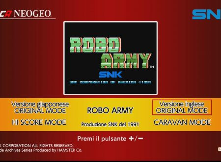 ACA NEOGEO Robo Army: uno sguardo in video al titolo dai Nintendo Switch europei