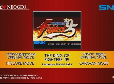ACA NEOGEO The King of Fighters '95: uno sguardo in video al titolo dai Nintendo Switch europei