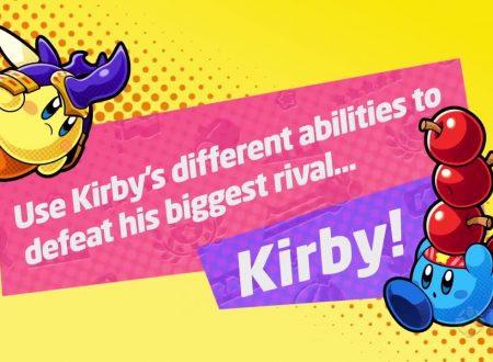 Kirby Battle Royale: una nuova clip dall'account Twitter, mostra l'abilità Ninja e Parasole di Kirby