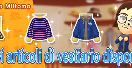 Miitomo: i nuovi indumenti del 9 ottobre nel negozio di gioco