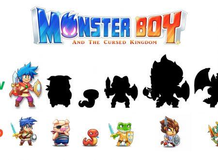 Monster Boy and the Cursed Kingdom, mostrato il cambiamento degli sprite durante lo sviluppo
