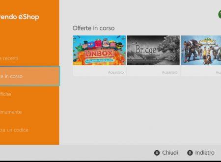 Nintendo Switch: aggiunta una nuova sezione dedicata ai giochi in offerta sul Nintendo eShop