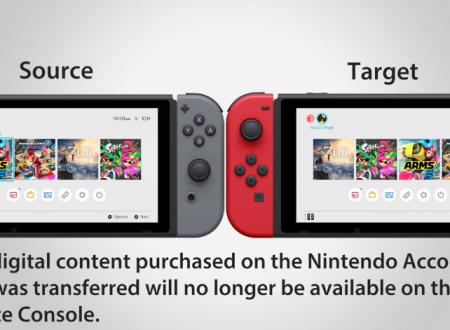 Nintendo Switch: un video guida mostra i passaggi per trasferire i dati su una nuova console