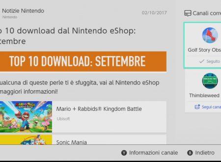 Nintendo eShop: la TOP 10 dei giochi più scaricati nel mese di settembre su Nintendo Switch