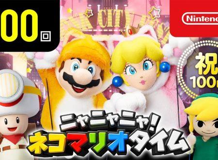 Nyannyan Neko Mario Time: pubblicato l'episodio 100 dello show felino con Mario e Peach