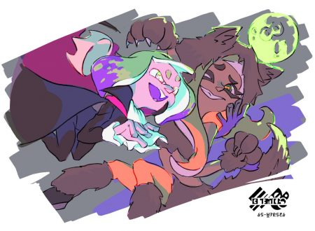 Splatoon 2: pubblicato l'artwork ufficiale dello Splatfest americano, Vampiri vs Lupi Mannari