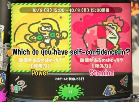 Splatoon 2: svelato il prossimo Splatfest giapponese, Potenza vs. Stamina