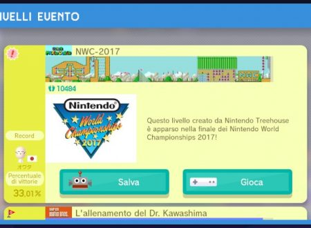 Super Mario Maker: il livello del Nintendo World Championships 2017, ora disponibile nel gioco