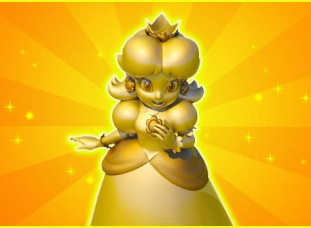 Super Mario Run: la statua dorata di Daisy dell'evento Retweet, ora disponibile nel titolo