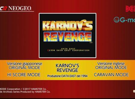 ACA NEOGEO Karnov's Revenge: uno sguardo al titolo dai Nintendo Switch europei