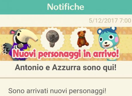 Animal Crossing: Pocket Camp, i personaggi Azzurra, Antonio, Fenicia e Massimo, ora disponibili