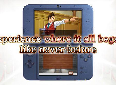Apollo Justice: Ace Attorney, pubblicato il trailer di lancio del titolo su 3DS