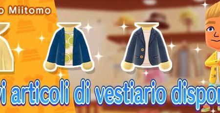 Miitomo: i nuovi indumenti del 27 novembre nel negozio di gioco