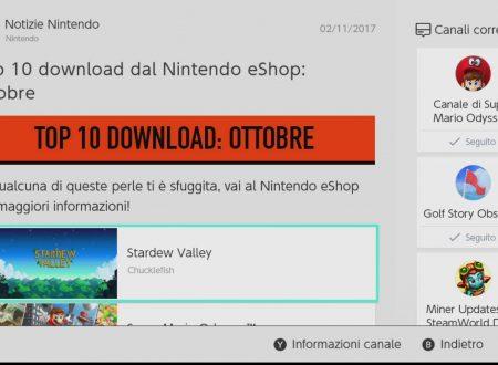 Nintendo eShop: la TOP 10 dei giochi più scaricati nel mese di ottobre su Nintendo Switch