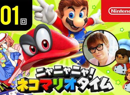 Nyannyan Neko Mario Time: pubblicato l'episodio 101 dello show felino con Mario e Peach